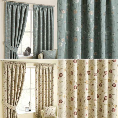 duck egg blue ready made jacquard curtain pair