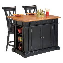 stool for kitchen island home styles kitchen island 3 set black distressed oak with 2 deluxe bar stools in