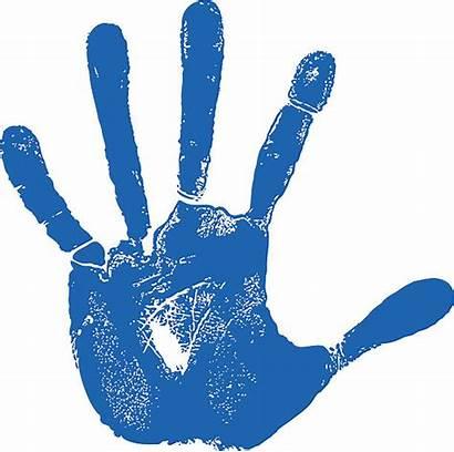 Hand Left Handprint Clipart Vector Outline Illustration