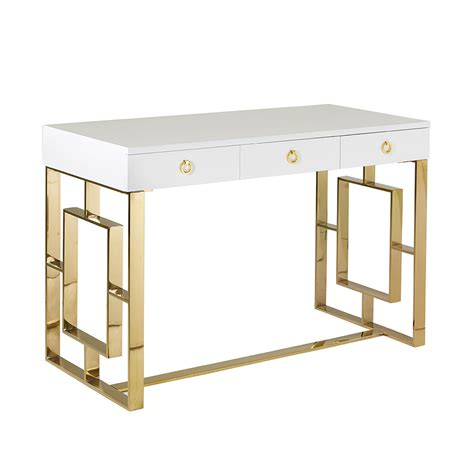 white and gold desk chair white and gold desk simple ikea hack one leggy gold desk