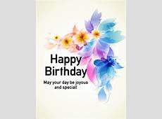 Graceful Flower Happy Birthday Card Birthday & Greeting