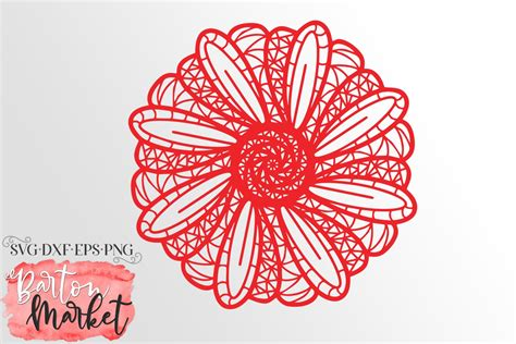 Spirals vector set free vector. Intricate Daisy Mandala SVG DXF EPS PNG (539692) | Cut ...