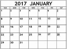 January 2017 Word Calendar #WordCalendar #