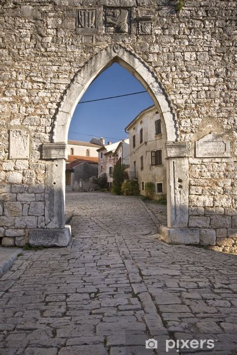 medieval gothic venetian arch wall mural pixers