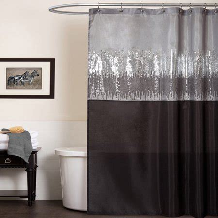 Shower Curtain Gray by Sky Black And Gray Shower Curtain Walmart