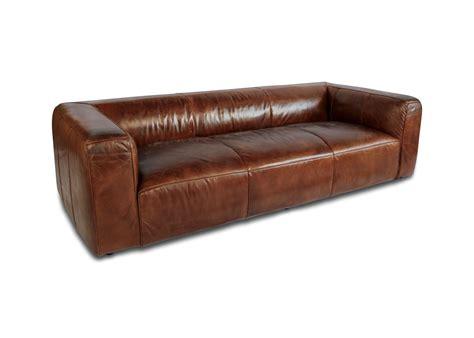 ledersofa braun 3 sitzer sofa eckig und bequeme vintage braun leder patina 3 stellen