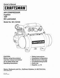 Craftsman 921 152100 Owner S Manual
