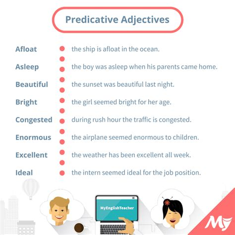 list of predicative adjectives myenglishteacher eu