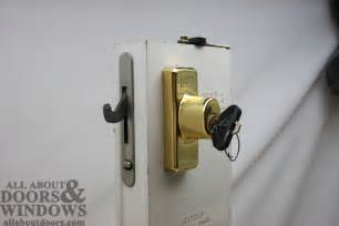 patio door locks replacing a sheared tailpiece receiver in an andersen sliding patio door