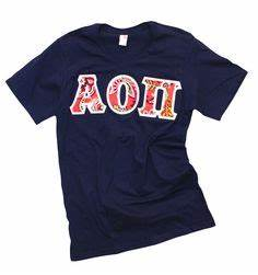 aoii With aoii letter shirts
