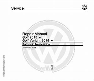 Volkswagen Golf 2015  Golf Variant 2015 Repair Manual