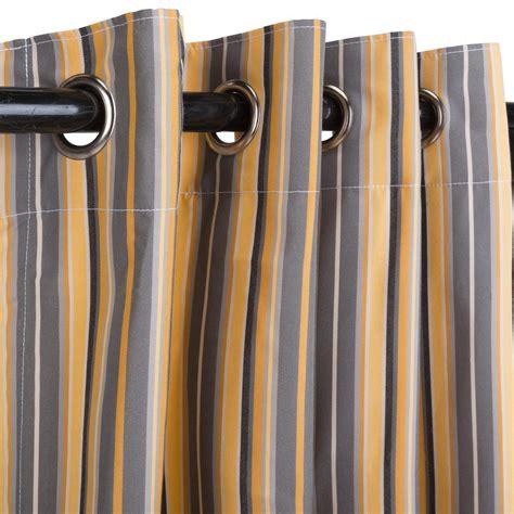 foster metallic grommeted sunbrella outdoor curtains
