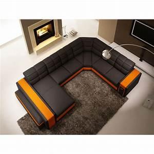 canape panoramique en cuir chambery canapes en u With canapé en u en cuir