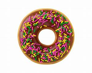 Pics For > Chocolate Covered Donut With Sprinkles