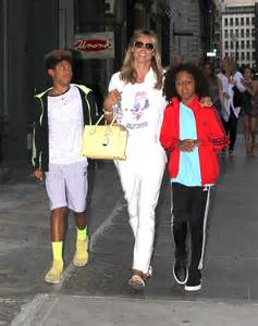 Maybe you would like to learn more about one of these? Heidi Klum with her children in New York City - GotCeleb
