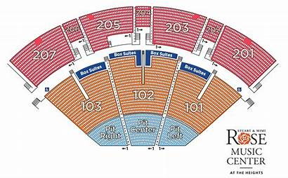 Seating Map Rose Center Heights Tickets Events
