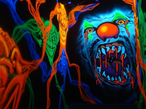 black light ideas blacklight haunt 3d haunted houses packages includes but
