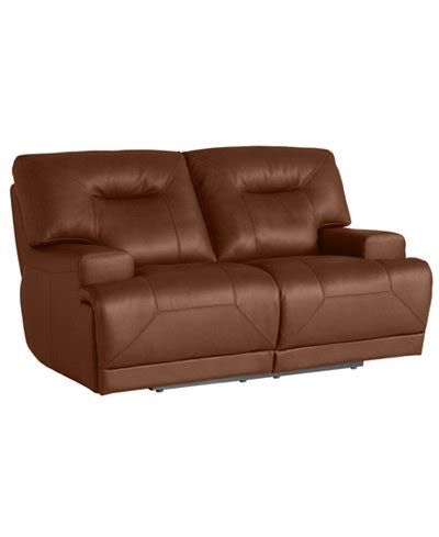 ricardo leather power reclining loveseat furniture macy s - Ricardo Leather Reclining Sofa