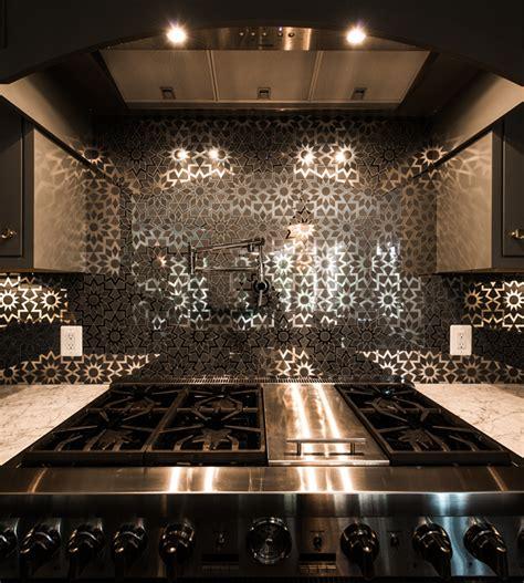 mirrored backsplash in kitchen black mirrored kitchen tile backsplash contemporary