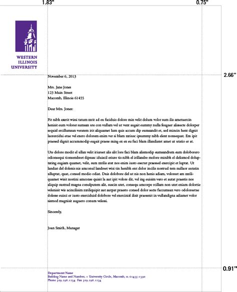 business letter format multiple pages footer sample