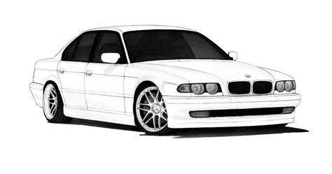 Kleurplaat Bmw E60 by Bmw E38 7 Series Classic Club Drive