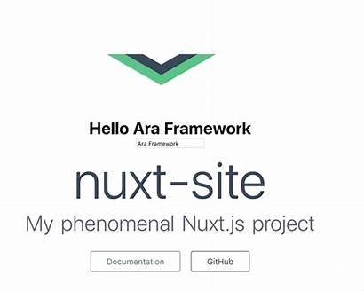 Nuxt Ara Framework Conclusion Example