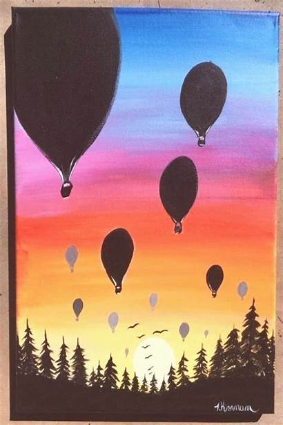 Sunset Easy Painting Learn Trend20us Acrylics Paintings