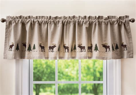 Moose Embroidered Valance