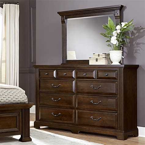 Vaughan Bassett Dresser With Mirror by Vaughan Bassett Woodlands Dresser Landscape