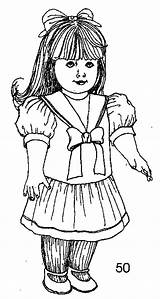 Doll American Printables Coloring Printable sketch template