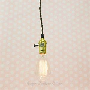 Single gold socket vintage pendant light cord w dimmer