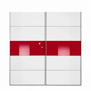 Schwebetürenschrank Nach Maß : schwebet renschrank inline wei rotglas 2 segmente breite 152 cm ~ Markanthonyermac.com Haus und Dekorationen