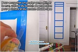Accrocher Un Tableau Sans Percer : comment accrocher des tableaux sans faire de trous top ~ Dailycaller-alerts.com Idées de Décoration