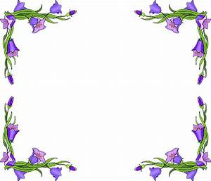 Blue Flower clipart flower line borders - Pencil and in ...