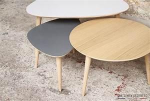 Table Basse Gigogne Scandinave : tables basses gigognes style vintage made in france sur ~ Voncanada.com Idées de Décoration