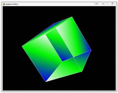 Python Opengl Programming Code Pyopengl Cube Screen