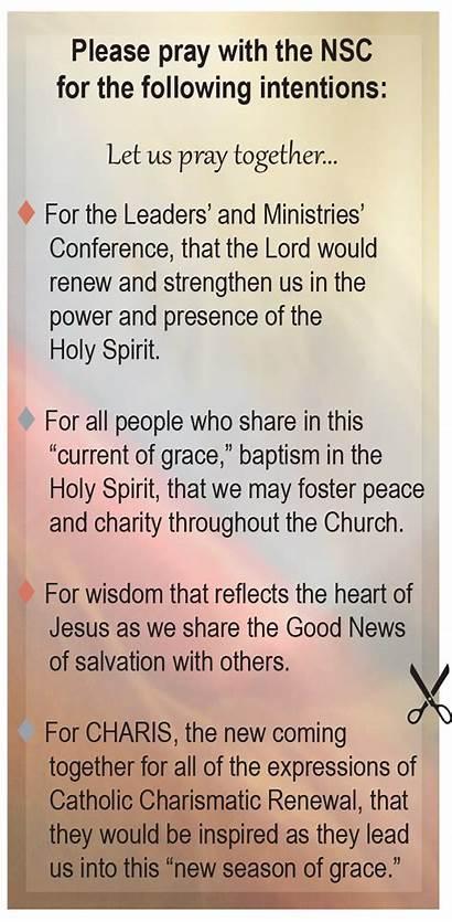 Prayer Intentions Catholic Summer Pentecost Today Charismatic