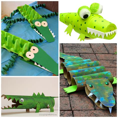 creative alligator amp crocodile crafts for crafty 712 | alligator crocodile kids crafts