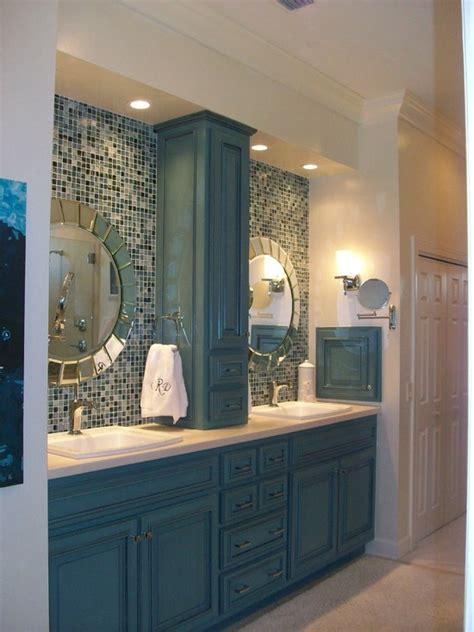 blue glass mosaic bathroom tiles tile ideas  pictures