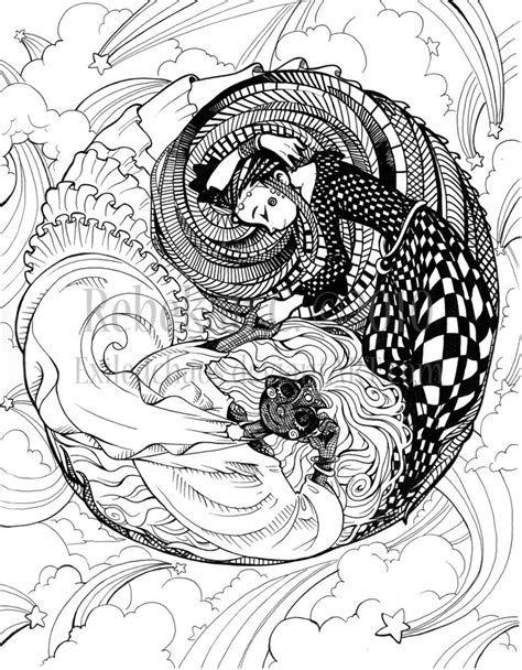 Herron Coloring Book: Yin Yang by ExiledChaos on DeviantArt