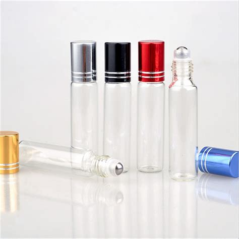 Simple edit with smart layers. 10ML Clear Glass Essential Oil Roller Bottles with Glass ...