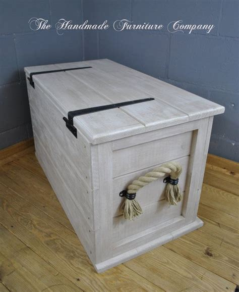 linen chest cuisine shabby chic vintage style storage chest distressed to give an aged appearance special one
