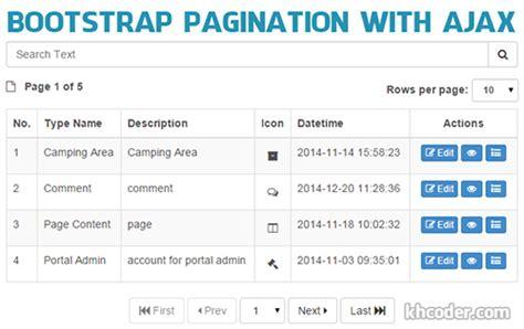 bootstrap pagination  ajax  php tutorials