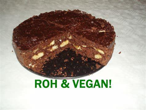 Vegane Rohkost Schoko Bananen Kuchen * einfach + lecker