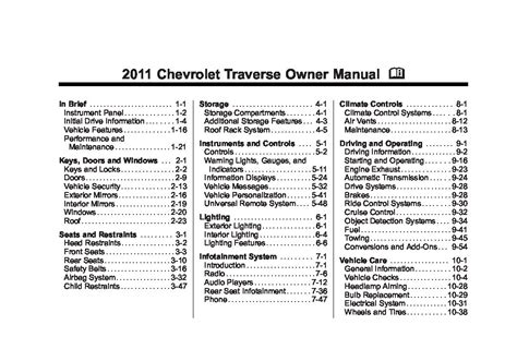 chevrolet traverse owners manual  give