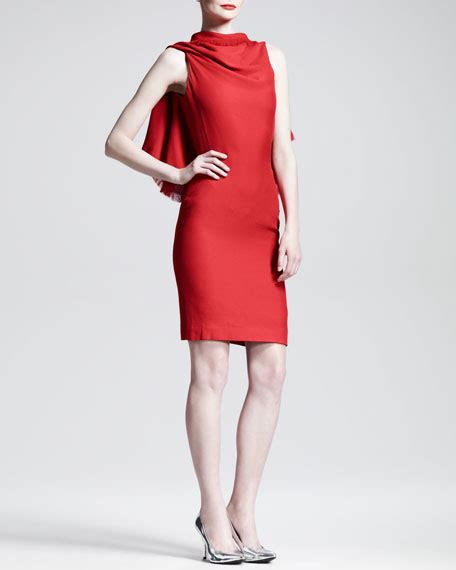 Draped Backless Dress - gareth pugh triangle draped backless dress