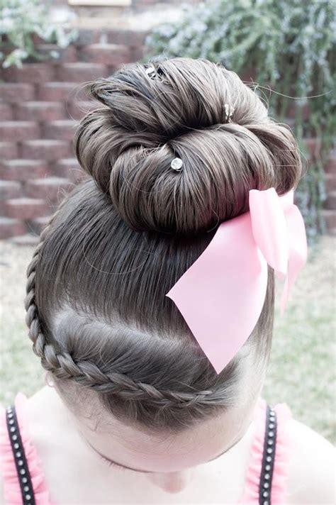 cute hair style  dance recitals  gymnastics meets