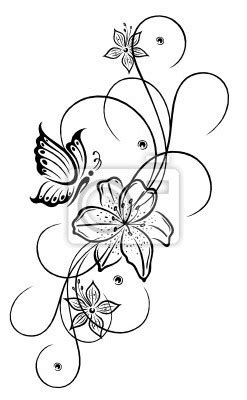 lilie vorlage fototapete lilien lilie ranke blumen bl ten pflanzen filigran ich liebe wasser