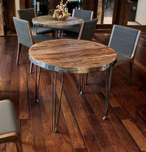 Reclaimed Wood Round Table  Industrial  Denver  By Jw