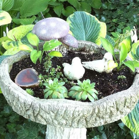bird bath garden gardening
